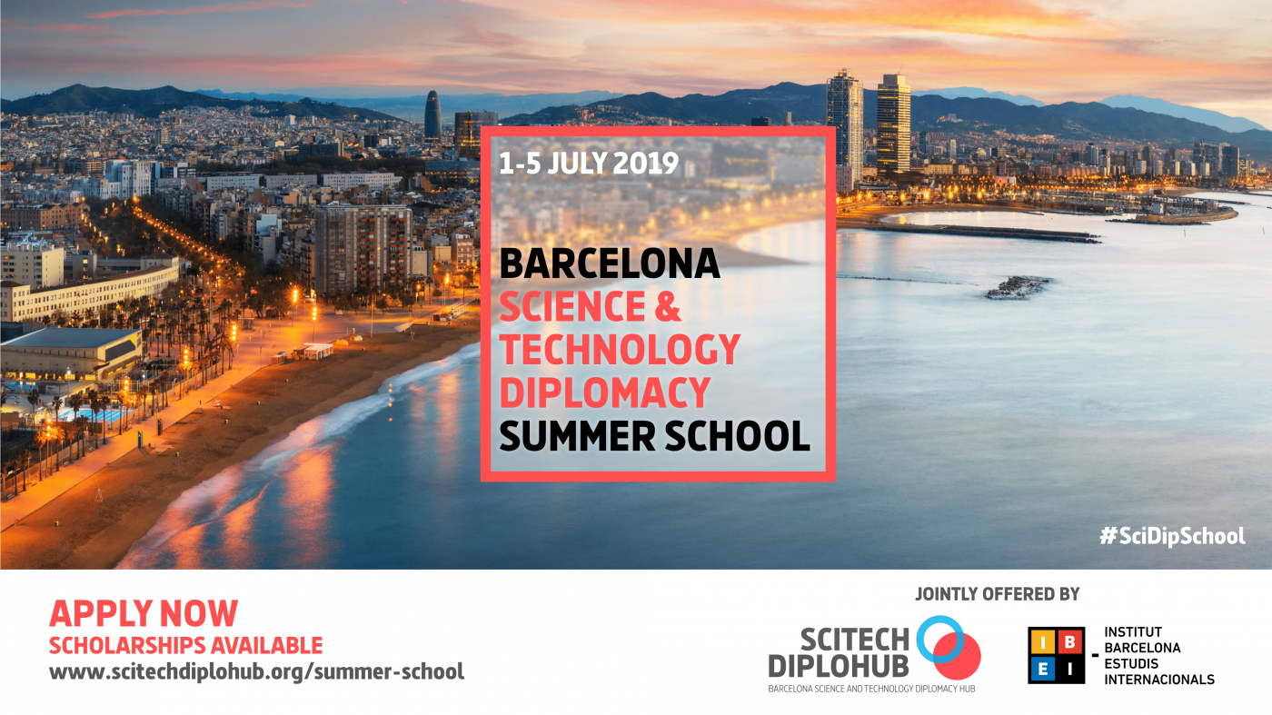 Call for applications open:  Barcelona Science and Technology Diplomacy Summer School