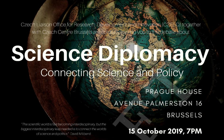 Debating Science Diplomacy in the 'Prague house' in Brussels: Join S4D4C on October 15!