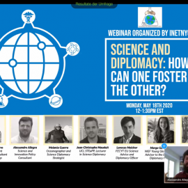 Online Event: Science and Diplomacy: How can one foster the other?