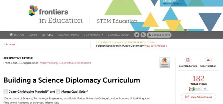 Building a Science Diplomacy Curriculum