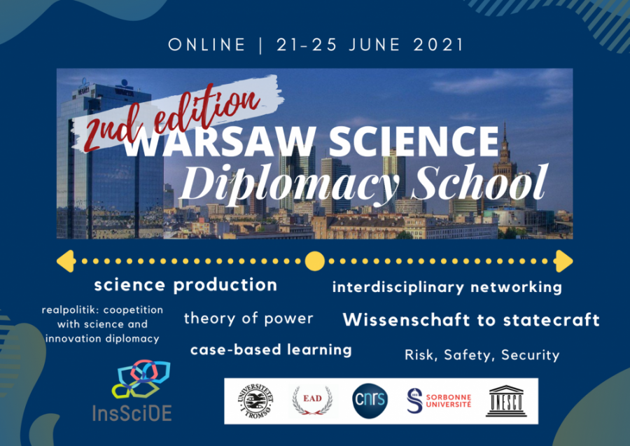 Application open: Warsaw Science Diplomacy School 2021