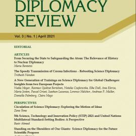 Alliance members publish in the Science Diplomacy Review Vol. 3 | No. 1 | April 2021