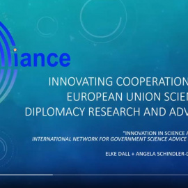 Presentation of the EU Science Diplomacy Alliance at INGSA 2021 available