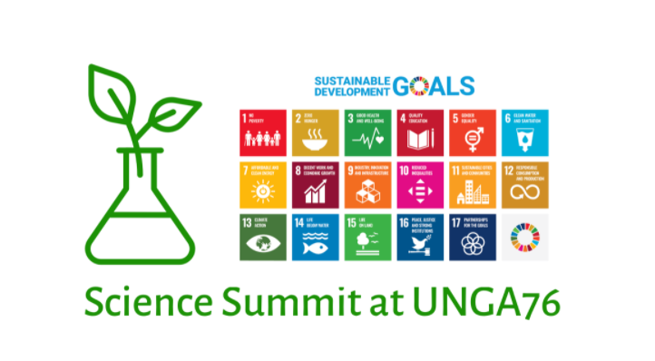 Science Summit at UNGA76: Science Diplomacy to achieve the SDGs